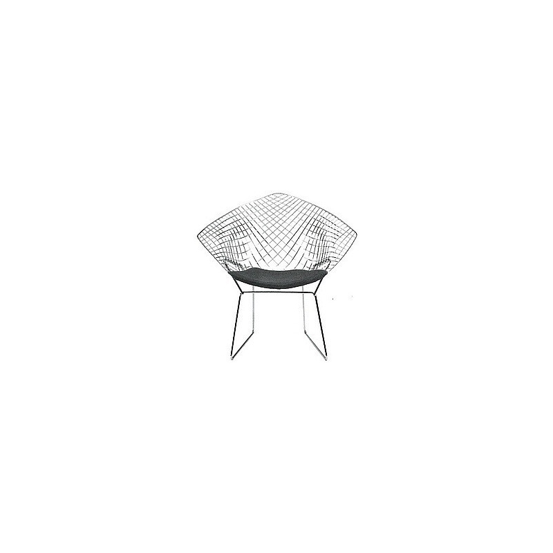 Bauhaus stuhl diamond 492 harry bertoia 1952 for Bauhaus sessel