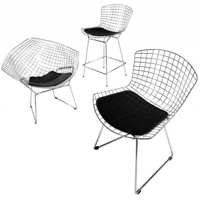 bauhaus hocker 483 drahtgeflecht harry bertoia 1952. Black Bedroom Furniture Sets. Home Design Ideas