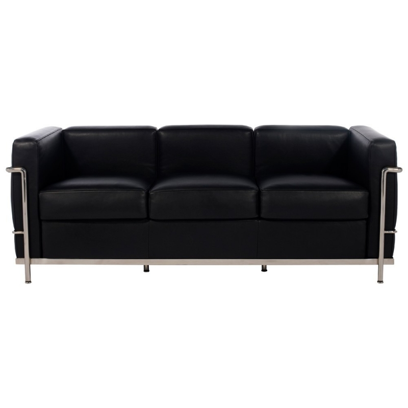 Designer sofa lc2 3 seater ds 23 le corbusier 1928 for Le corbusier sofa nachbau