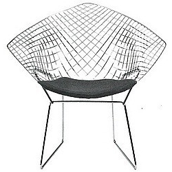 Diamond Armchair 492 by Harry Bertoia 1952 made in Italy