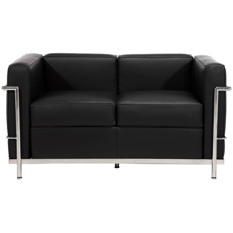 Lc2 sofa 2 seater le corbusier bauhaus age for Bauhaus furniture sectional sofa