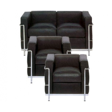Le Corbusier - group 3 peaces leather Bauhaus age classic