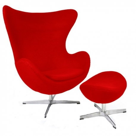 Egg armchair  with Ottoman by Arne Jacobsen 1958