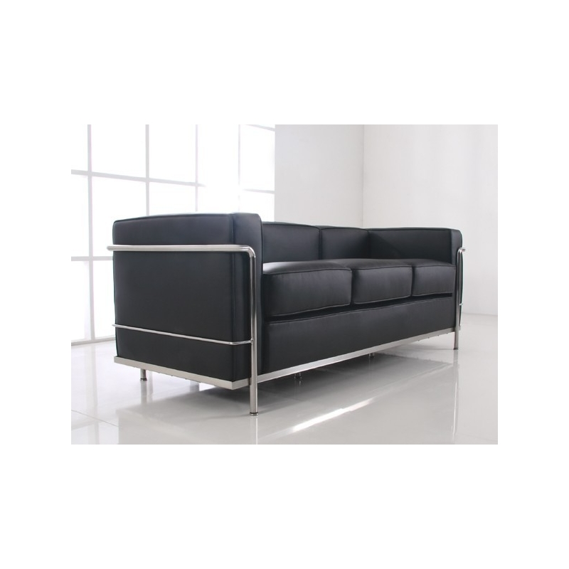 lc2 sofa 3 sitzer le corbusier bauhaus ra. Black Bedroom Furniture Sets. Home Design Ideas