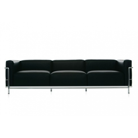 le corbusier sofa lc3 3 sitzer klassiker bauhaus ra. Black Bedroom Furniture Sets. Home Design Ideas